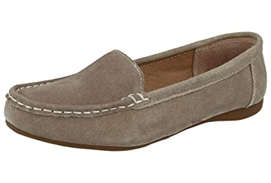 Ladies Platino Leather Heeled Comfort Loafers Size 4 Clothing, Shoes & Accessories Heels