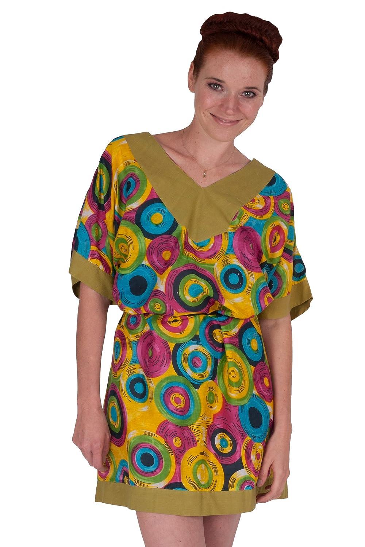 Abito leggero Kimono per la spiaggia, modelli di tendenza (taglia unica) - disegni differenti disegno 1 KI-01-OS-01