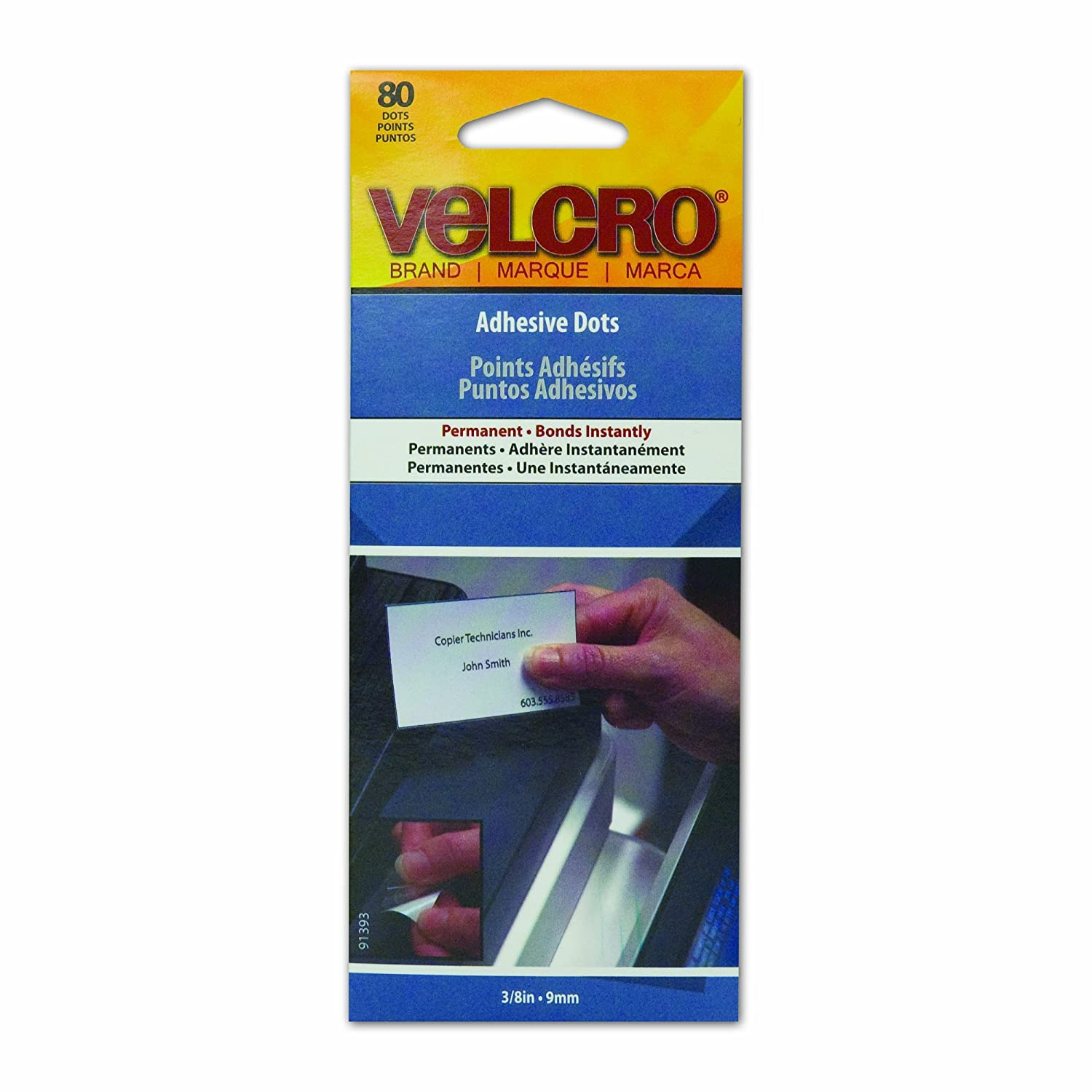 Velcro(r) Brand Fasteners Adhesive Dots 80-Pack-Permanent 9139-3