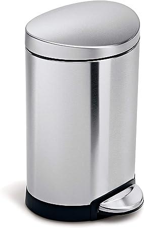 Amazon.com: Cubo de basura semicircular con pedal, capacidad ...