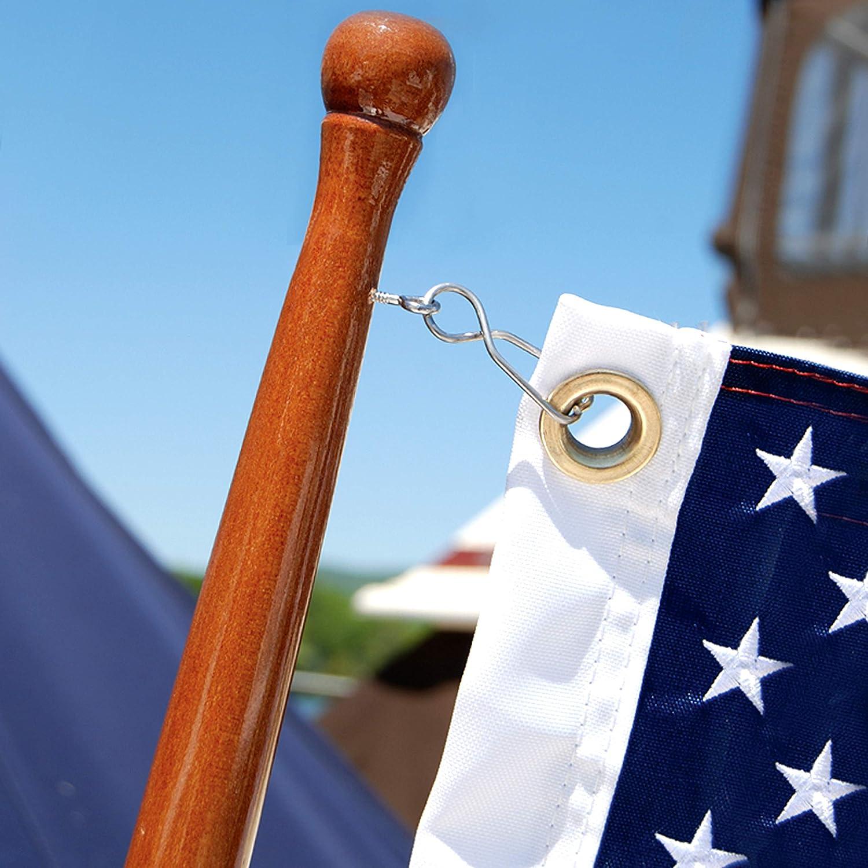 Teak Flag Pole 3 4 X 18 Sports Outdoors