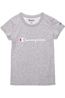 afbb56e5b Champion Girls Heritage Short Sleeve Script Logo Tee Shirt Big and Little  Girls