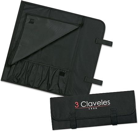 Compra 3 Claveles - Estuche Profesional Porta Cuchillos, Lona Rígida Lavable, hasta 6 Piezas en Amazon.es