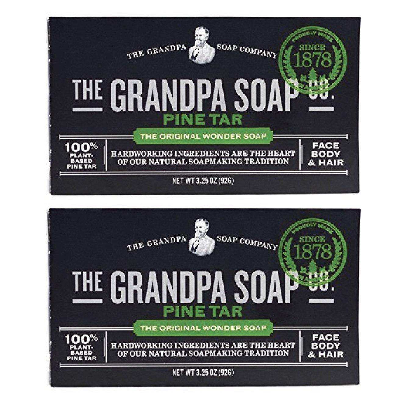 Grandpa's Pine Tar Bar Soap 3.25 Ounce (Pack of 3) Grandpa' s 64529