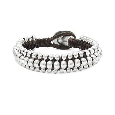 Beau Soleil Jewelry Lederarmband Armband in Braun oder Schwarz und  Verschiedene Größen wählbar Lederschmuck Damen Herren  Amazon.de  Schmuck b37e9e7c6a