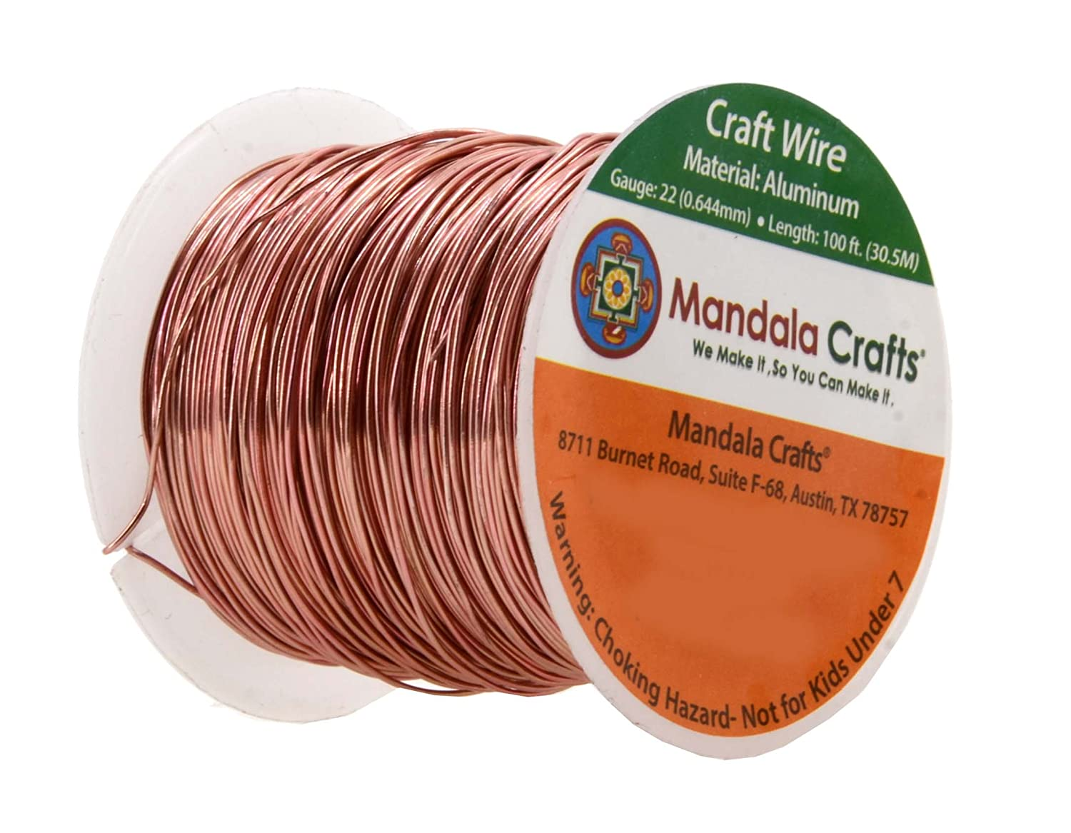 Mandala Crafts 12 14 16 18 20 22 Gauge Anodized Jewelry Aluminum Wiring Hazards Making Beading Floral Colored Craft Wire Copper