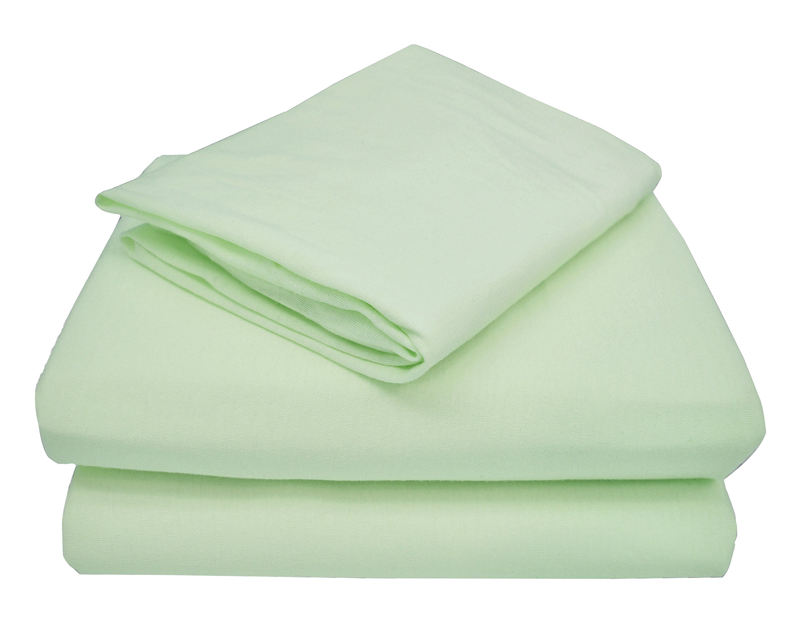TL Care 100% Jersey Cotton 3-Piece Toddler Sheet Set, Celery