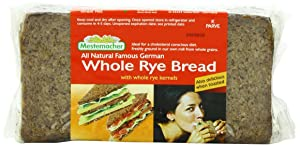 Mestemacher Bread Whole Rye, 17.6-Ounce (Pack of 6)