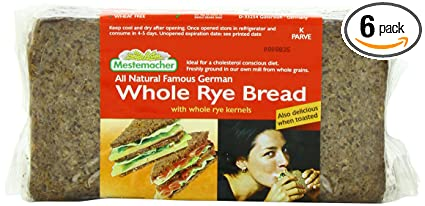 Mestemacher Bread Whole Rye, 17 6-Ounce (Pack of 6)