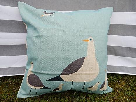 J.T.Hatched Funda de cojín con diseño de gaviota, pájaro ...