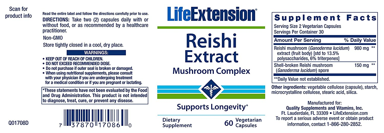 Amazon.com: Vida Extension Reishi Extracto, Complejo ...