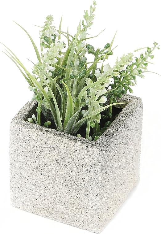 Plante miniature artificielle de Lavande blanche de 11 cm Closer To Nature FP008CC