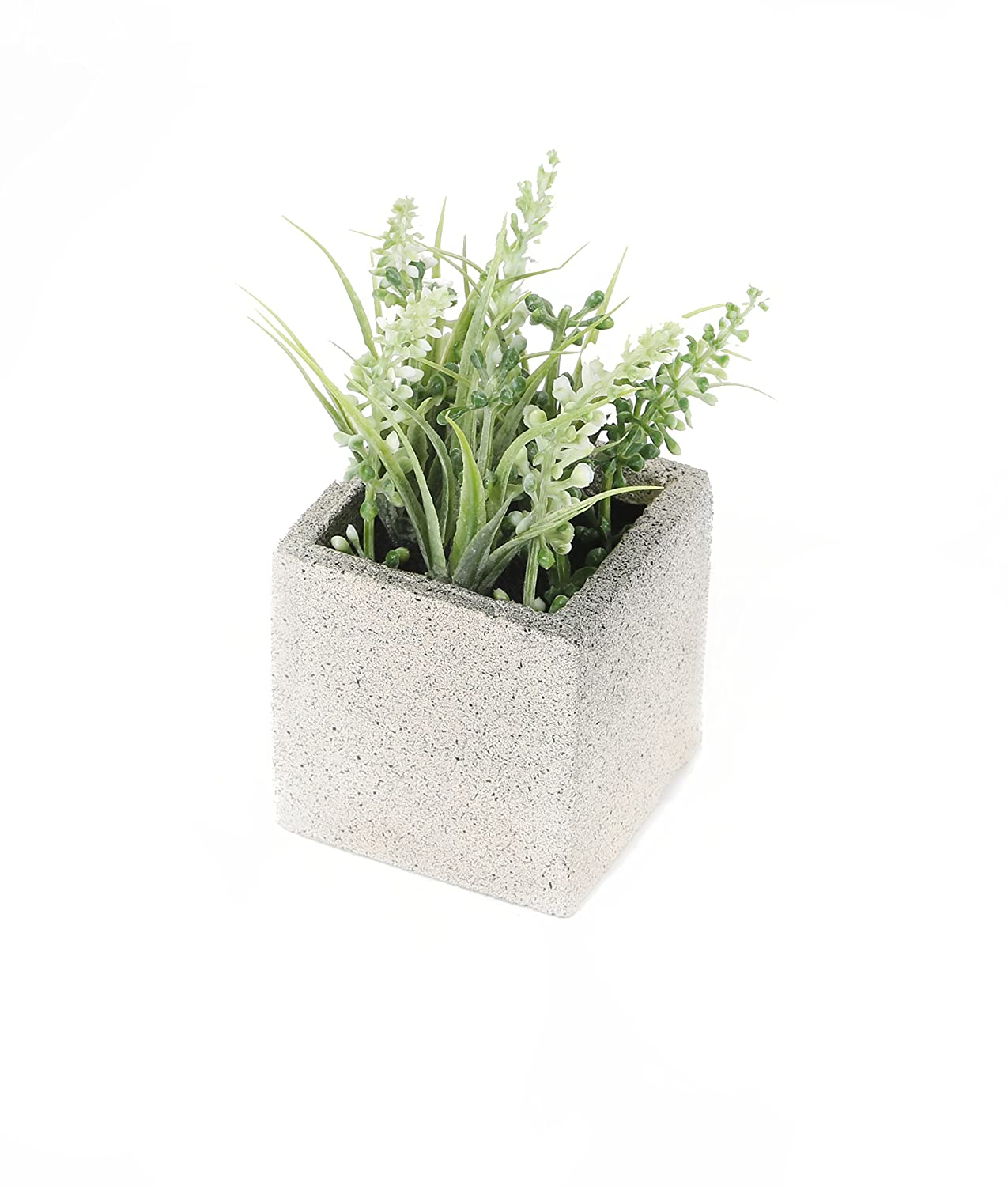Closer2Nature Artificial 11cm Blue Miniature Lavender Plant in a Decorative Pot FP008BC