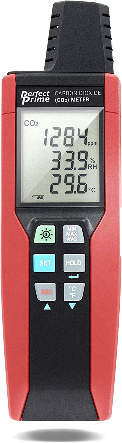 PerfectPrime CO2512, High Concentrate (30,000 ppm) Indoor Air Quality Meter USB CO2 CARBON DIOXIDE Air Temperature Humidity DataLogger