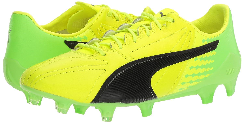 PUMA 17.SL Men's Evospeed 17.SL PUMA Lth FG Soccer schuhe, Safety Gelb schwarz Grün Gecko, 8 M US d361c0