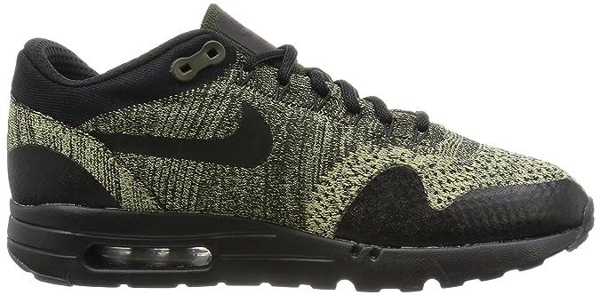 Nike Air Max 1 Ultra Flyknit Black Olive Green 11 Men's Running Shoes 856958 203   eBay