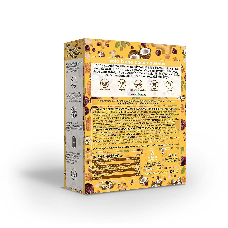 Natural Granola 100% Natural, sin azúcar refinado. 325gr (Naranja y pasas): Amazon.es: Alimentación y bebidas