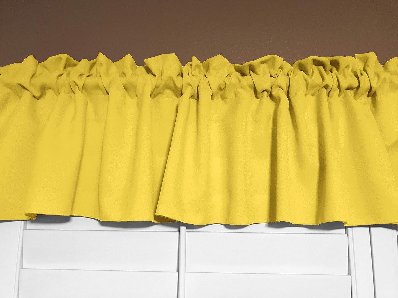 Zen Creative Designs Solid Poplin Window Valance 58 Inch Wide Lemon 14 Tall Home Kitchen