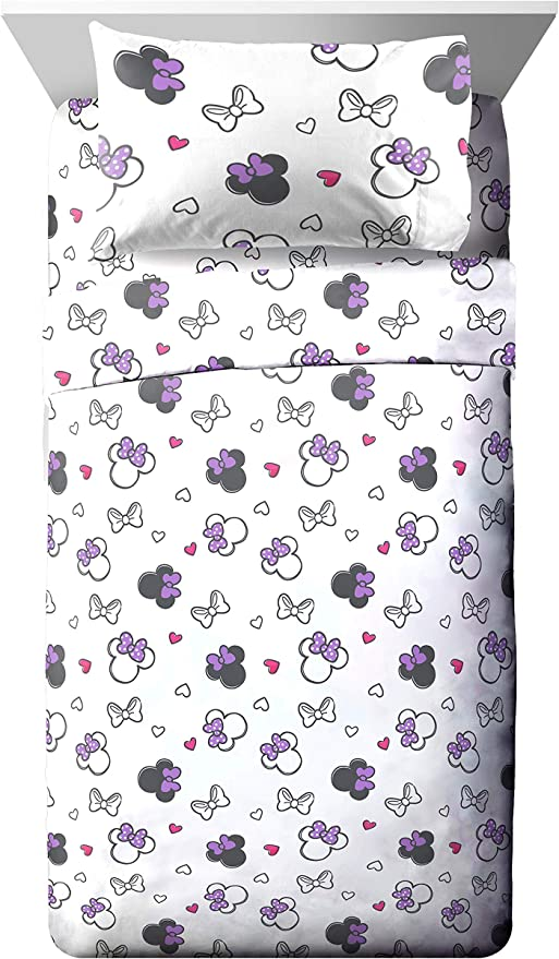Fade Resistant Polyester Microfiber Sheets Jay Franco Disney Mickey Mouse Cute Faces Twin Sheet Set Official Disney Product Super Soft and Cozy Kid/'s Bedding