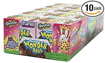 Amazon Com Frankford Candy Company Wonder Ball Shopkins Milk