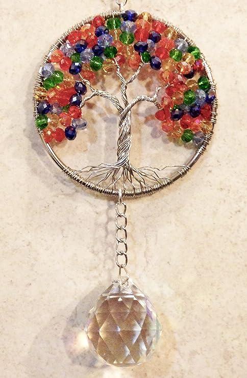 3\u201d Medium Chakra Tree of Life Sun Catcher