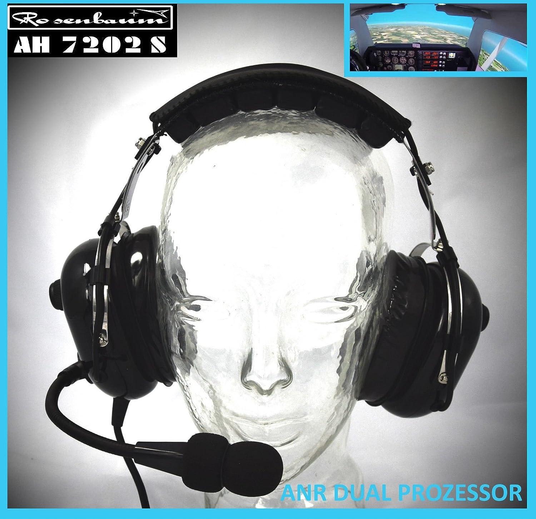Rose Algodó n Aviation ANR auricular Ah 7202 S activo con Twin Procesador Rosenbaum Aviation Germany AH7202S