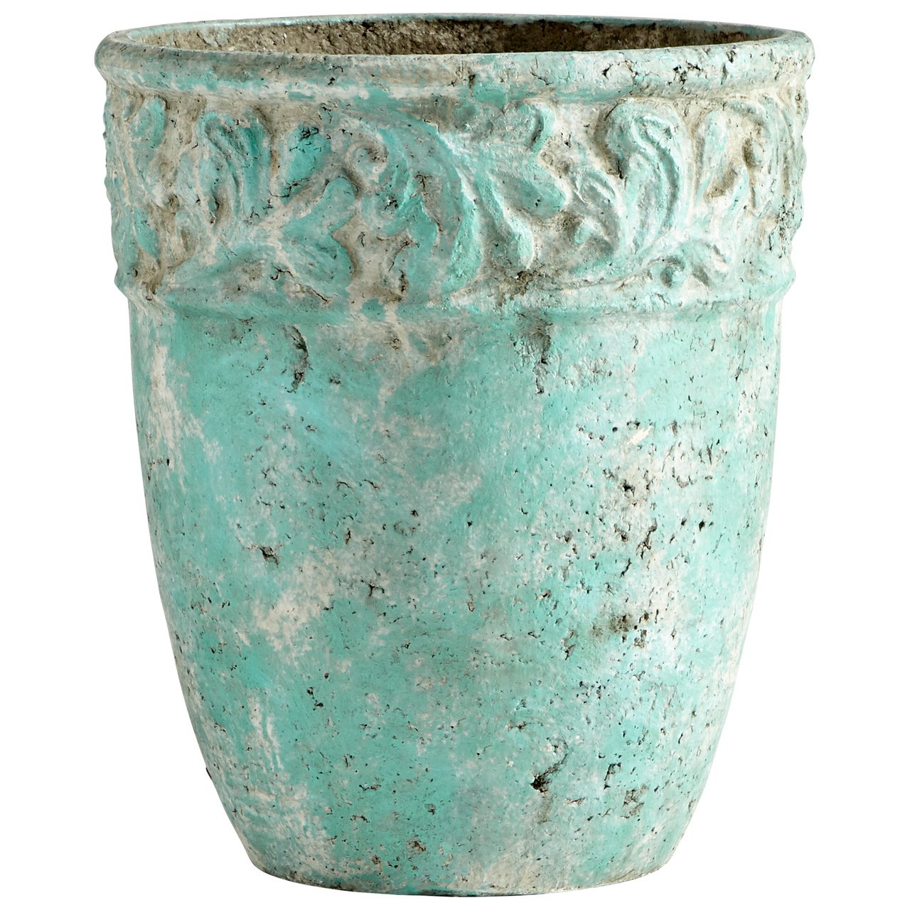 Cyan Design 09606 Rome Antique Green Planter, Small by Cyan Design