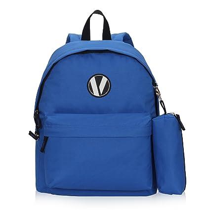 Veevan Mochila Escolar Mochila Bolsa de la Bolsa 1 lápiz Mochila Niño Ocio(Azul)