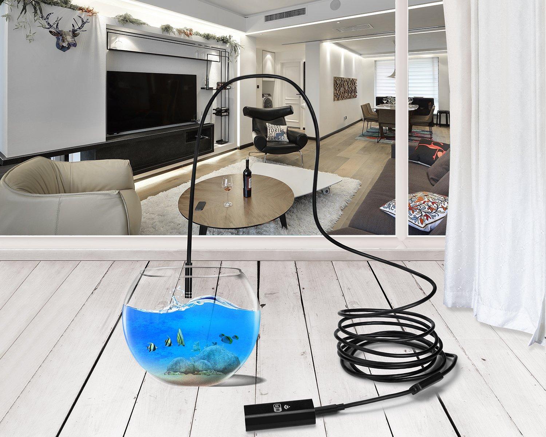 8m con LED e Supporto per Telefono Regolabile per Smartphone Android iOS ZeFeng USB Wireless WiFi Endoscope 1280P HD 2.0 Megapixels 8mm Inspection Camera