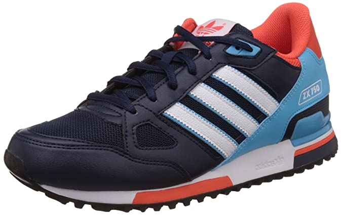 pretty nice f4ce2 c6729 adidas Originals Men s Zx 750 Blue and White Running Shoes - 9 UK  Buy  Online at Low Prices in India - Amazon.in
