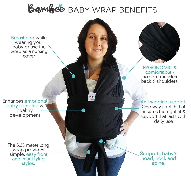 Amazon Com Bambee Baby Sling Wrap Lightweight Ergonomic Front