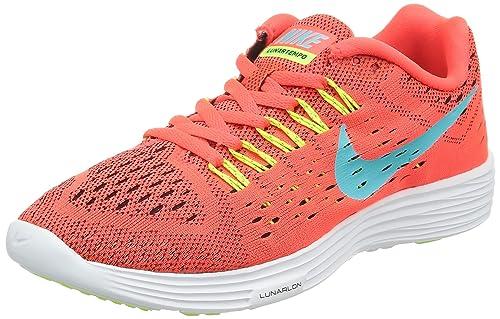 on sale 9c132 26de1 Nike Men s Lunartempo Bright Crimson Light Aqua-Volt-White Ankle-High  Running