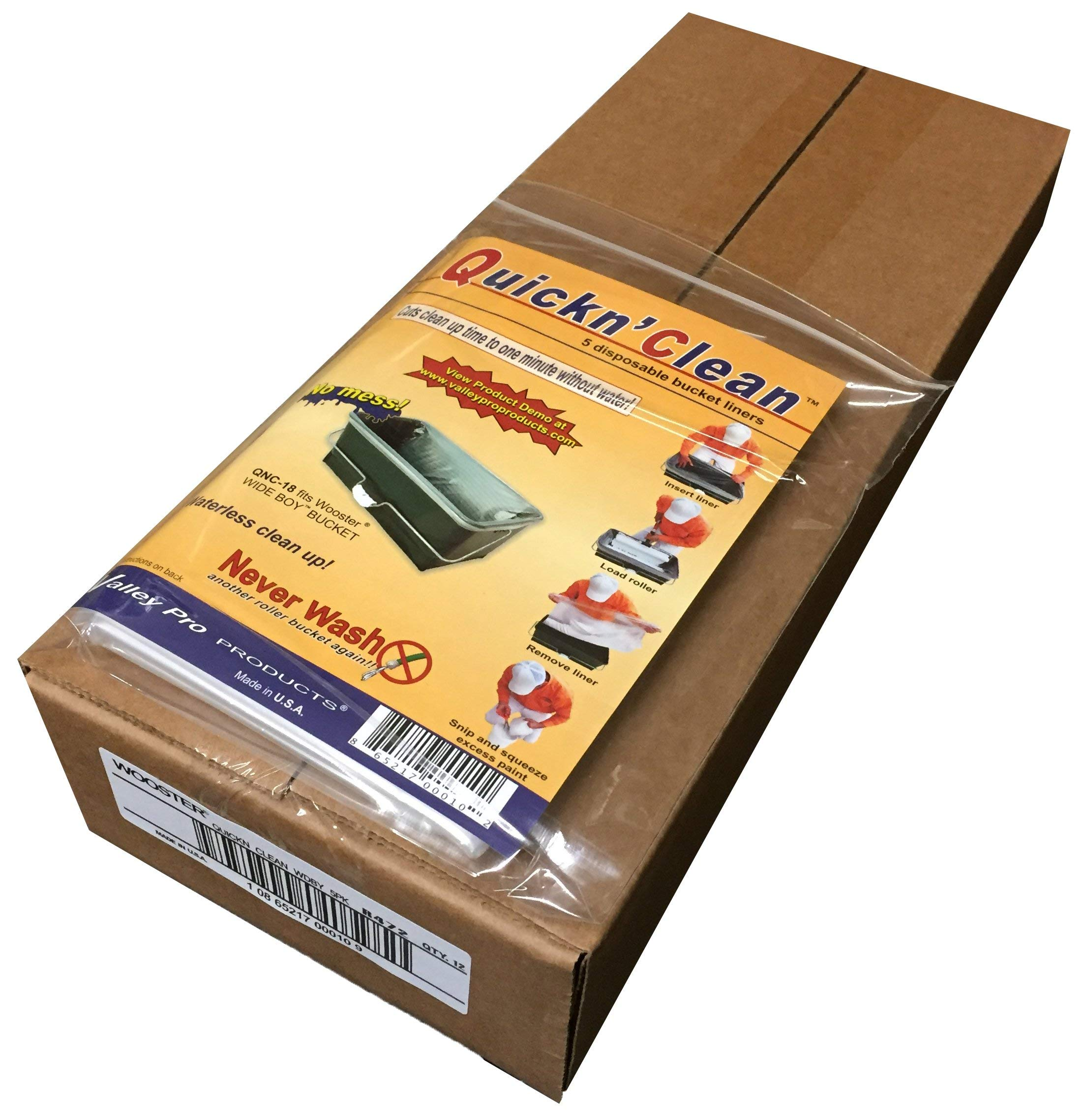 Wooster Brush R472 Quickn Clean WideBoy Bucket Liner (5 Pack) - Box of 12 by Wooster Brush