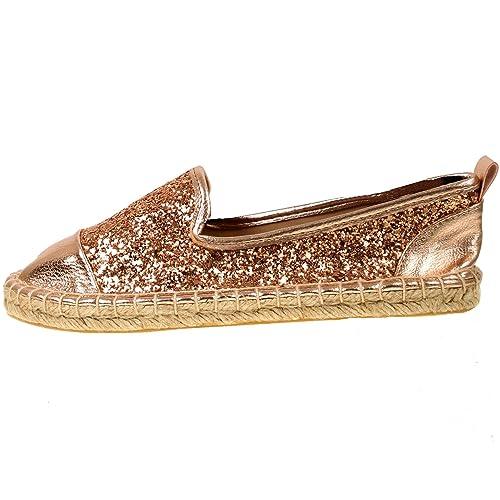 Shoebou - Alpargatas para mujer Dorado oro rosa: Amazon.es: Zapatos y complementos