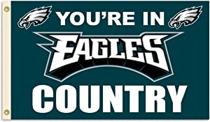 Fremont Die NFL Philadelphia Eagles 3' x 5' Flag with Grommets, 3 x 5-Foot, In Country
