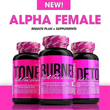 SHREDZ® Alpha Female Plan + Supplements – Build Lean Muscle, Show Off  Physique, Tone Fat (bottles)