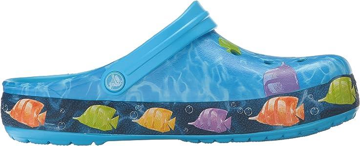 crocs Unisex Crocband Lights Fish Clog