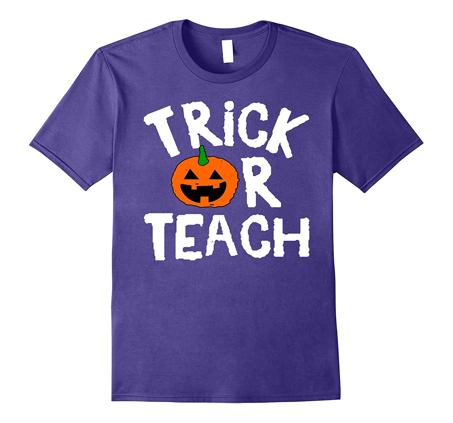 Teacher Pumpkin Trick Or Teach T-shirt-ANZ