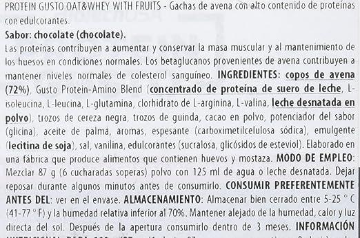 BioTech Oat & Whey With Fruits Preparado Proteínico Sabor Chocolate y Cherry - 696 gr: Amazon.es: Salud y cuidado personal