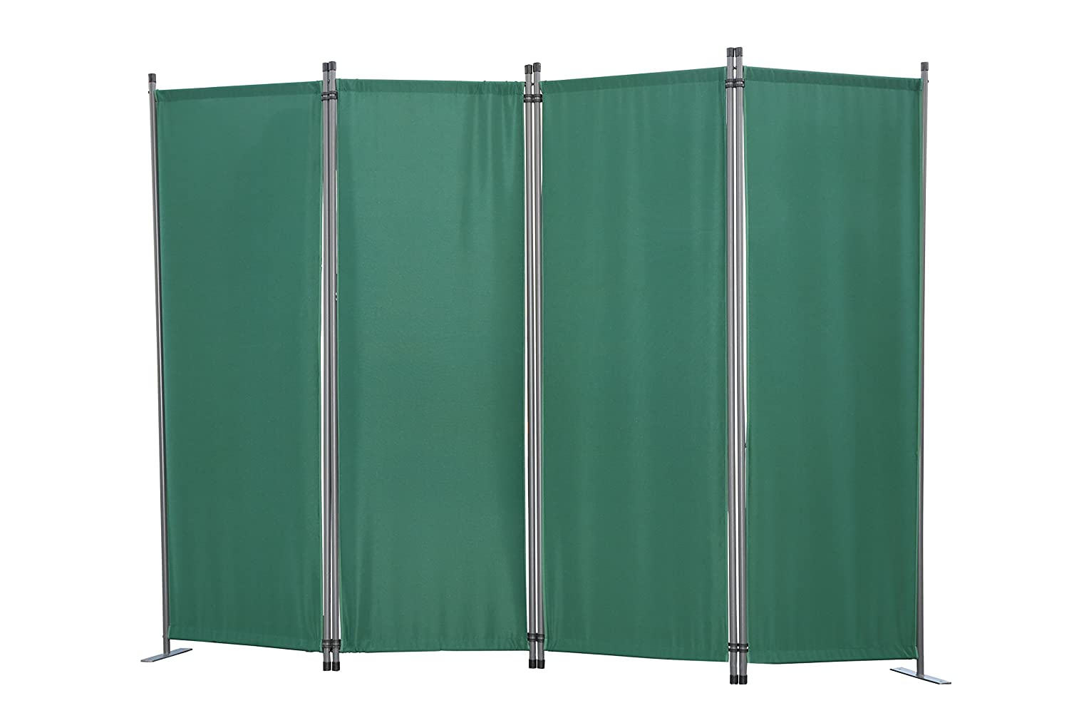 Angel Living Protective Screens Room Divider Screen Panel Folding Room Partition Wall Furniture Outdoor Screens for Patio Privacy (4-piece 225x165cm, Green)