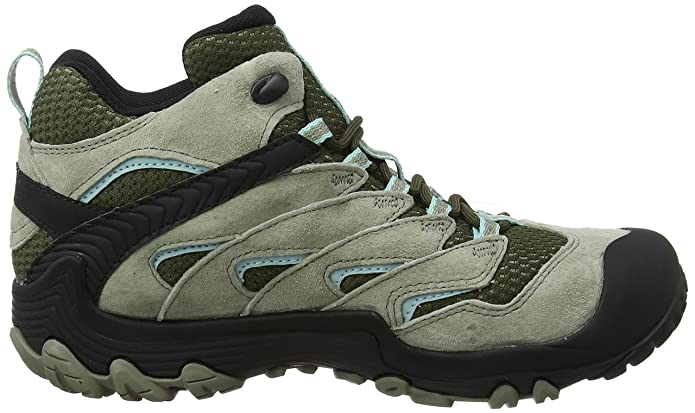 Amazon.com | Merrell Chameleon 7 Limit Mid Waterproof Womens 10 - Green | Hiking Boots