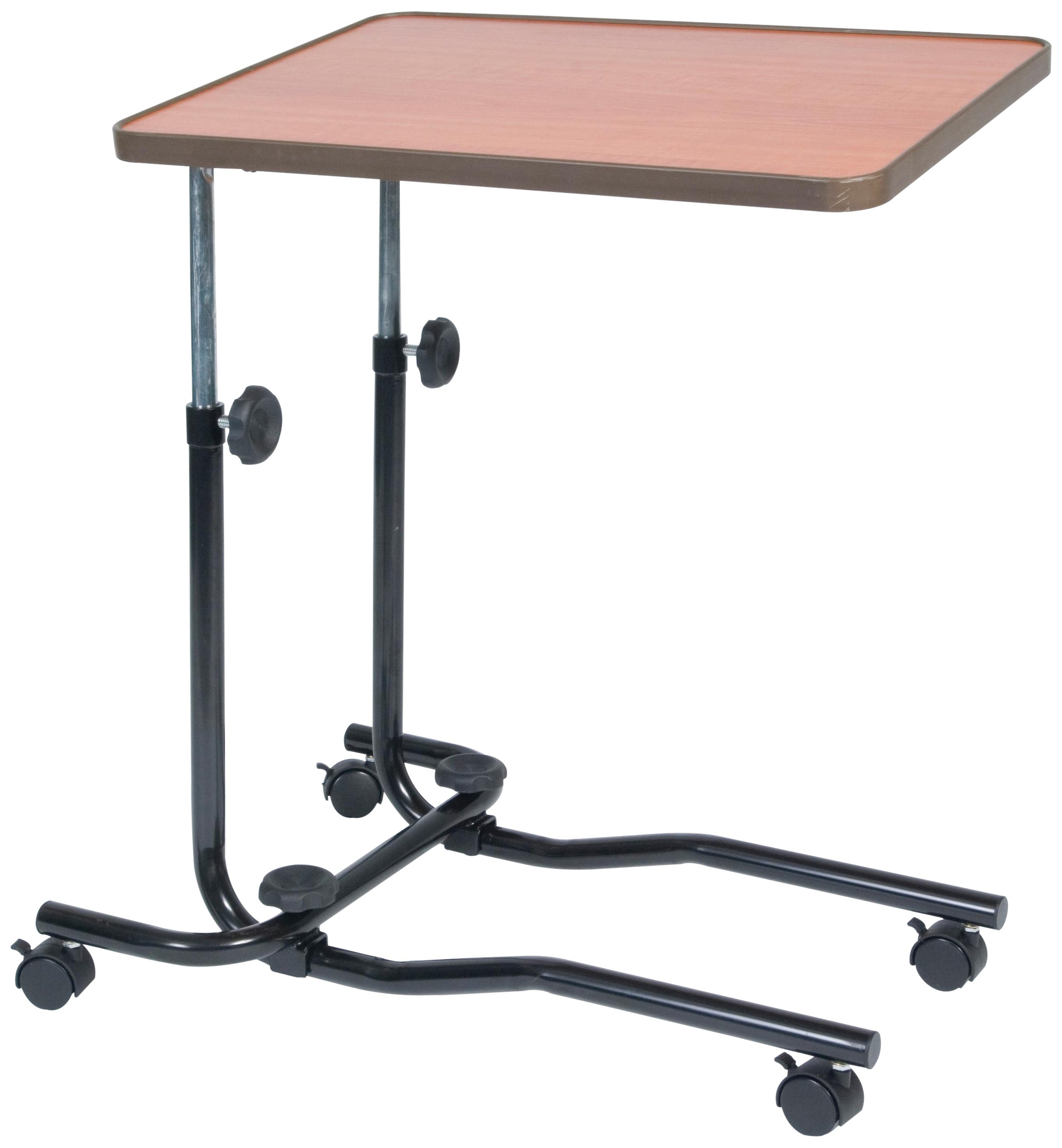 NRS Healthcare M15691 Portable Overbed/Chair Table - Tilting, Adjustable & Wheeled by NRS Healthcare