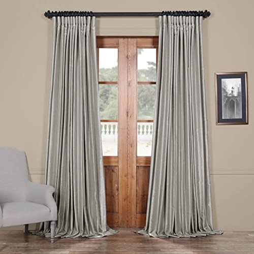 HPD Half Price Drapes PDCH-KBS9BO-84-DW Blackout Extra Wide Vintage Textured Faux Dupioni Curtain 1 Panel