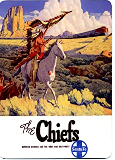 product image for Santa Fe Railroad METAL counter display sign - The Chiefs