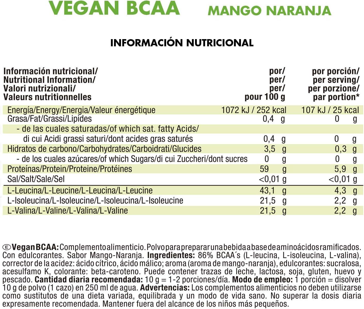 JOE WEIDER VICTORY Vegan BCAA 2:1:1 Mango-Naranja 100% vegano ...