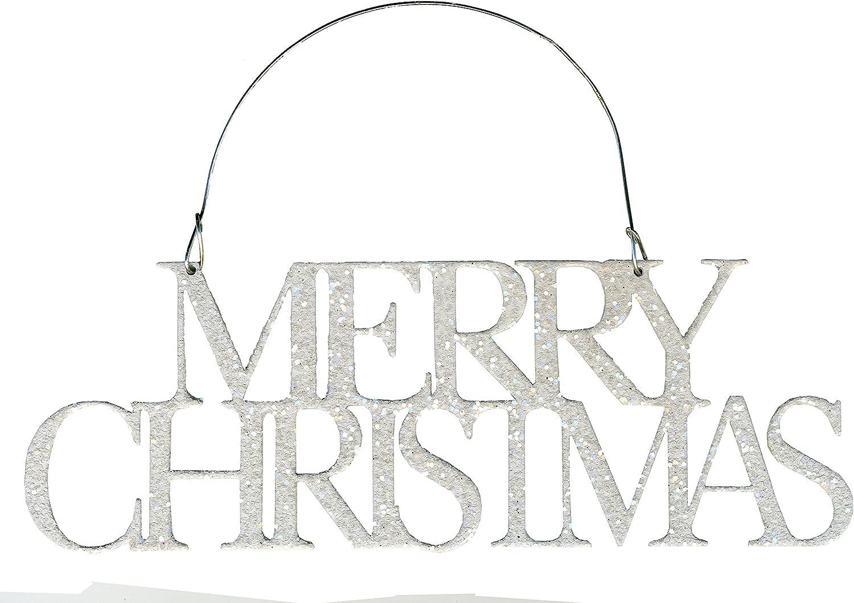PBK Christmas Decor Glavanized Glitter Tin Word JOY Ornament