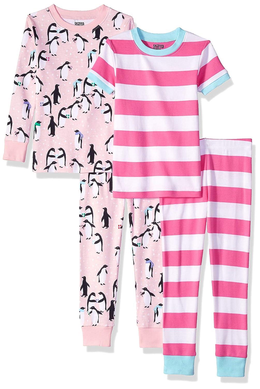 Spotted Zebra 4-Piece Snug-Fit Cotton Pajama Set Brand