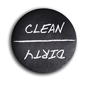 """Home Advantage - Clean Dirty Dishwasher Magnet Sign, 3"""" Diameter"""
