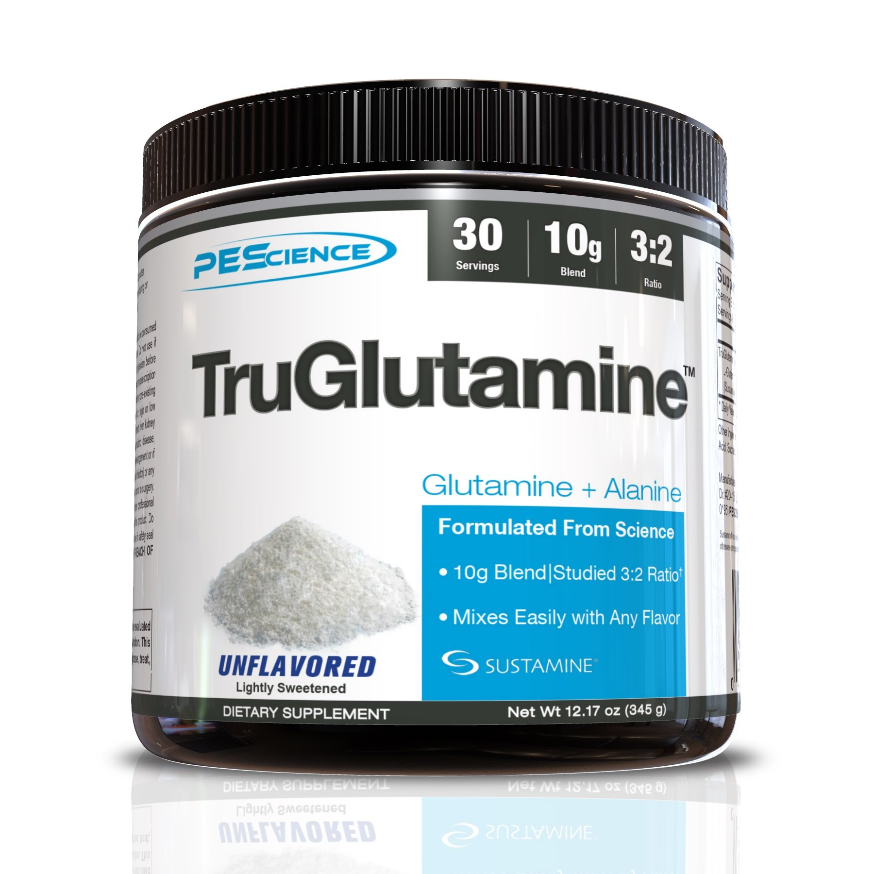 Pescience Truglutamine Unflavored, Black, 12.17 Ounce