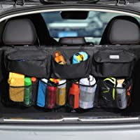 COOFULL Car Trunk Organizer - Super Capacity Car Hanging Boot Organisers with 7 Enlarged Pockets, 2 Long Magic Stick…